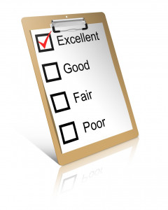 Checkliste zum Abhaken Excellent, Good, Fair, Poor