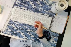 Über mich HRliebtdich Draufsicht Schreibtisch
